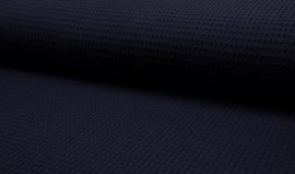 Wafelkatoen 100% katoen kleur donkerblauw  Art WF0186-009