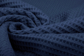 Wafelkatoen soepel ART WF53  politieblauw € 5,95 per meter .  5 meter voor