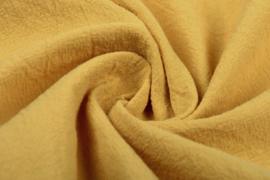 Gewassen katoen  Art:077    kleur Oker - 5 meter voor