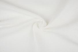 Wafelkatoen soepel ART WF1561 Off White € 5,95 per meter. 5 meter voor
