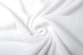 Teddy in katoen kleur 023  wit