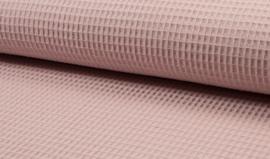 Wafelkatoen 100% katoen kleur  Dusty pink   art WF0186-013  - 1 meter voor