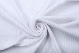 Baby wafel jersey  Art 023   wit     5 meter voor