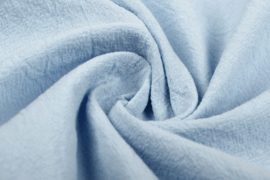 Gewassen katoen  Art:012  kleur babyblauw - 5 meter voor