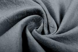 Gewassen katoen  Art:072  kleur grijs - 5 meter voor