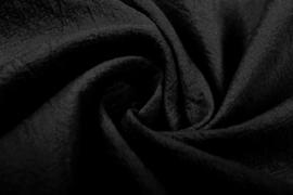 Gewassen katoen  Art:022   kleur zwart    5 meter voor