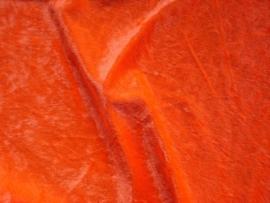 Velours de panne 25 meter € 1,85  per meter Kleur Fluor oranje ART VL31