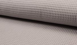 Wafelkatoen 100% katoen silver grey   Art WF0186-061   - 1 meter voor