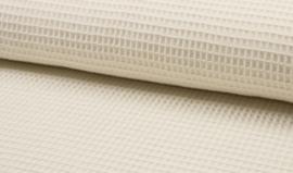 Wafelkatoen 100% katoen kleur  off withe / ecru  art WF0186-051  - 1 meter voor