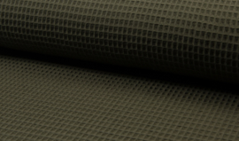 Wafelkatoen 100% katoen kleur ARMY  Art WF0186-027   - 1 meter voor