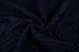 Wafelkatoen soepel Kleur  donkerblauw  € 5,95 per meter. Art WF008