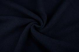 Wafelkatoen soepel ART WF008 donkerblauw  € 5,95 per meter. 5 meter voor