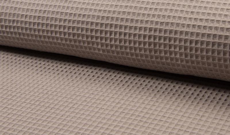 Wafelkatoen 100% katoen kleur Taupe  Art WF0186-055 -  1 meter voor