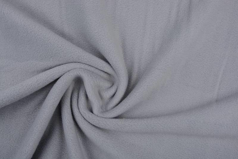 Polar Fleece  . Kleur zilver grijs  Art FB024  -  5  meter
