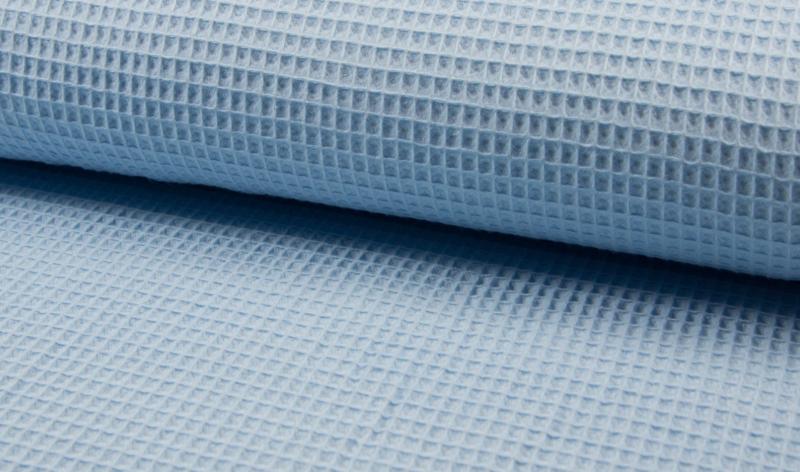 Wafelkatoen100% katoen  kleur lichtblauw   Art WF0186- 002 -  1 meter voor
