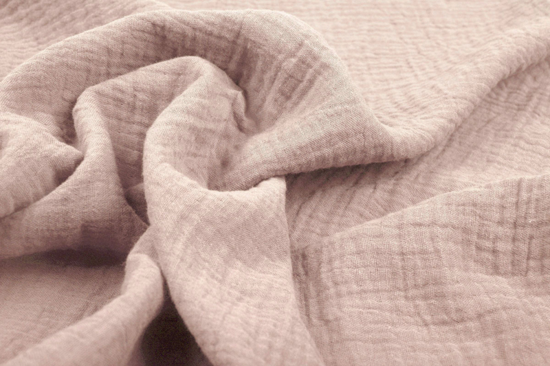 Hydrofiel doek 100% cotton kleur  poeder roze     5 meter voor