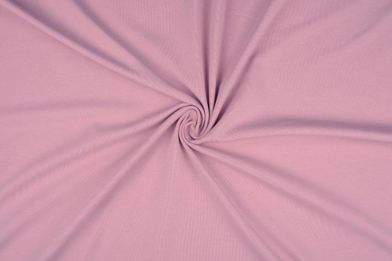 Tricot uni 155 cm breed kleur poederroze  € 5,50 p/meter Art 068
