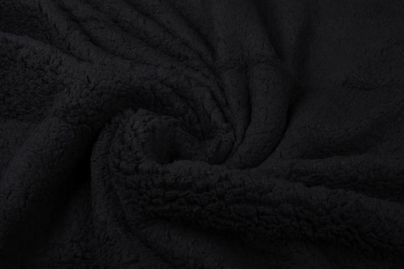Teddy  kleur zwart Art 022  -   5 meter voor