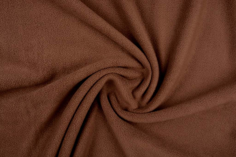 Polar Fleece Art FB 0432  Kleur mokka bruin  - 5 meter