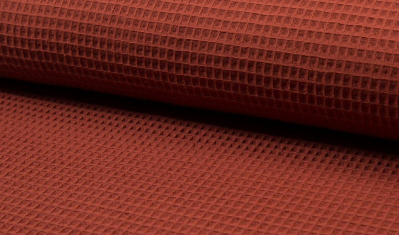 Wafelkatoen 100% katoen Terra    Art WF0186-056  -  1 meter voor