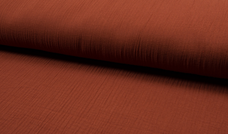Hydrofiel doek 100% cotton Art 087 kleur  terra   5 meter voor