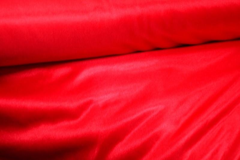 Chameuse stretchvoering Kleur rood Art CH56 € 2,50 per meter.