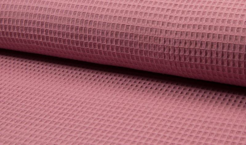 Wafelkatoen 100% katoen .Oud roze   Art WF0186-014  - 1 meter voor