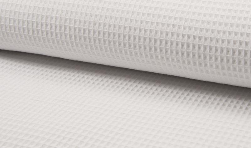 Wafelkatoen 100% Katoen  kleur  Wit    Art WF0186-050 -  1 meter voor