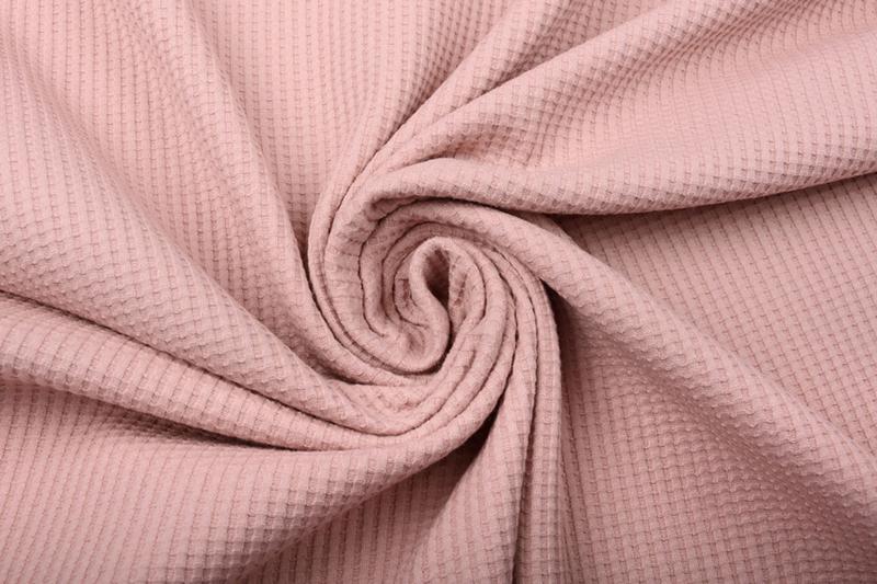 Baby wafel jersey  Art 068  poeder roze  5 meter voor