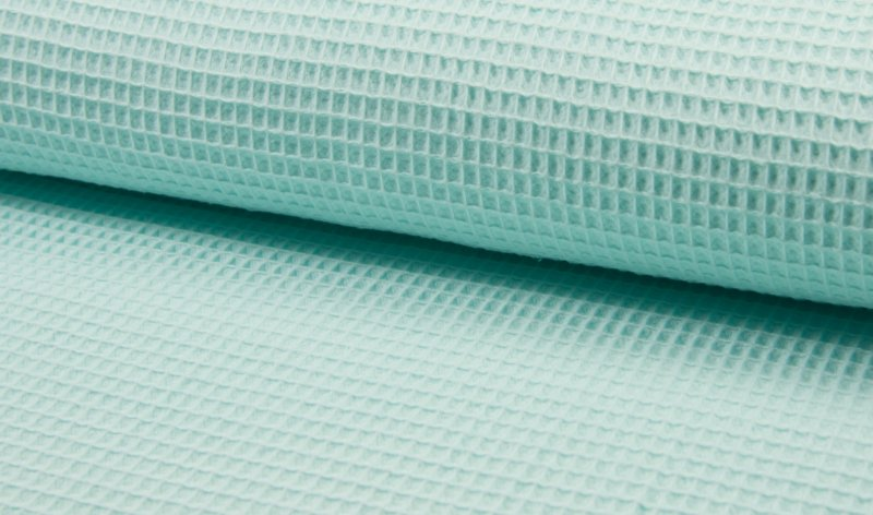 Wafelkatoen 100% Katoen  kleur  mintgroen    Art WF0186-021   - 1 meter voor