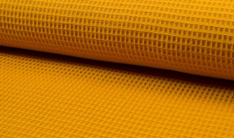 Wafelkatoen 100% katoen kleur Ocre   Art WF0186-034   - 1 meter voor