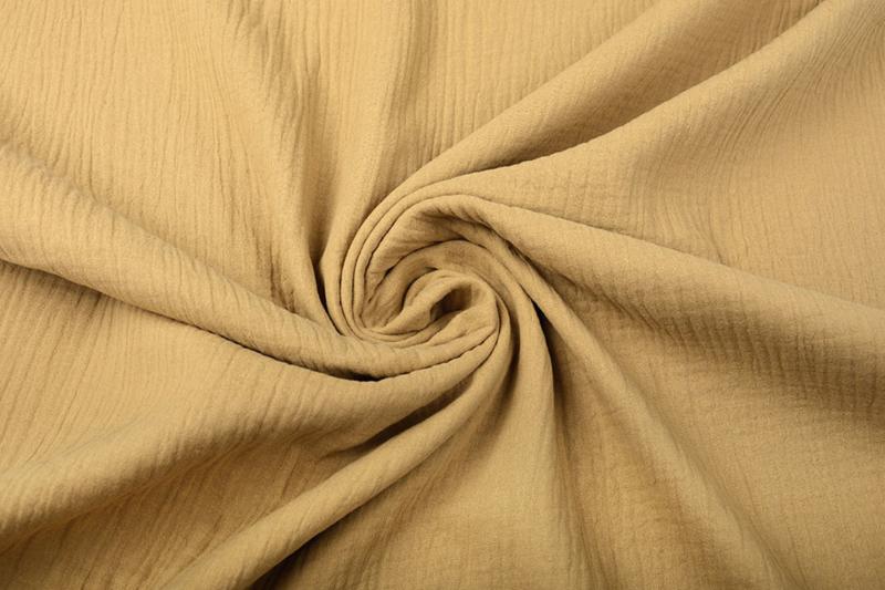 Nieuw !! Hydrofiel doek 100% cotton kleur 075  mokka   - 5 meter voor