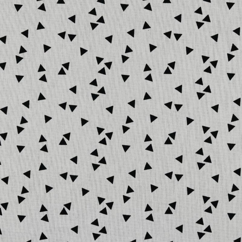 100 % Katoen  Triangle wit zwart  € 4,95 per meter !