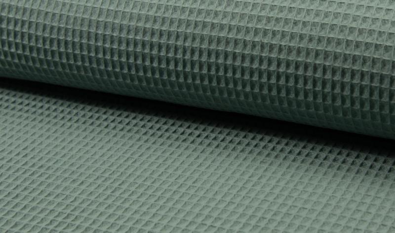 Wafelkatoen 100% katoen kleur Dark dusty mint  Art WF0186-024    -   1 meter voor