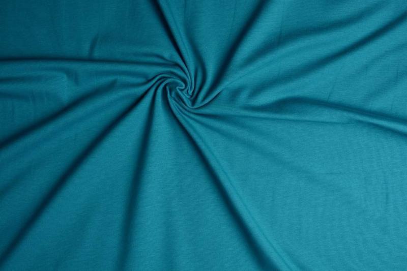 Tricot Uni kleur petrol blauw € 5,50 p / meter ART 026