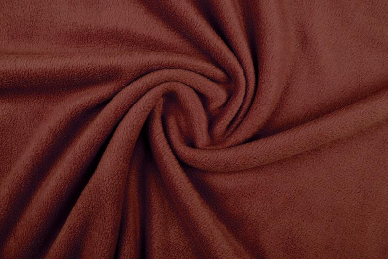Polar fleece .Art FB0187 Kleur roest brique  - 5 meter