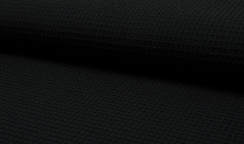 Wafelkatoen 100% katoen  kleur zwart  Art WF0186-069