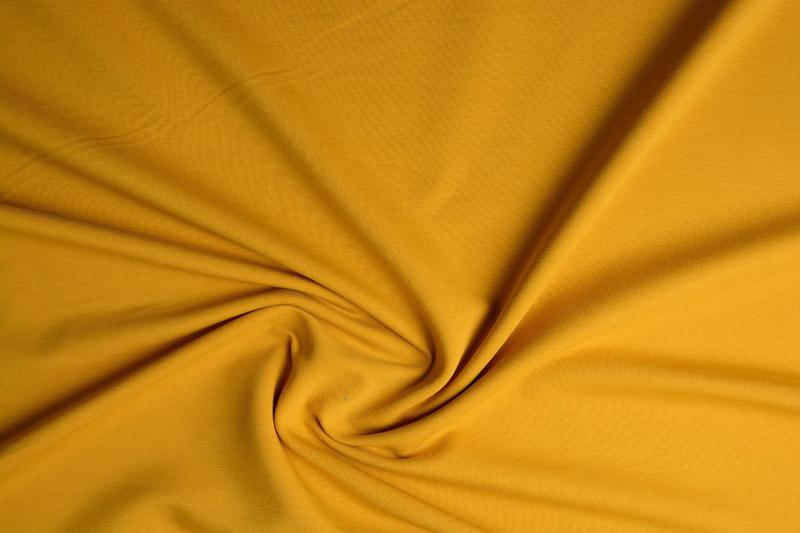 Frence Terry Tricot  Art FRT-082  kleur okergeel  € 6,95 per meter.