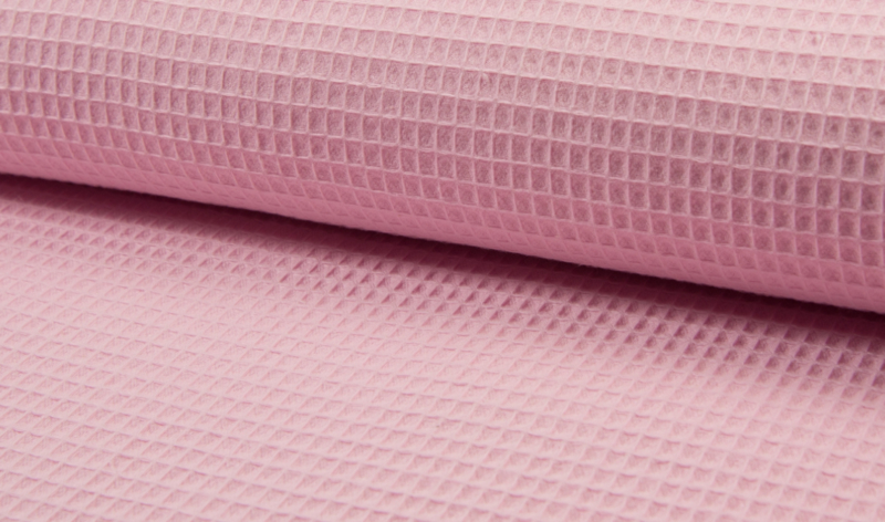 Wafelkatoen 100% Cotton zachtroze    Art WF0186-011   -  1 meter voor