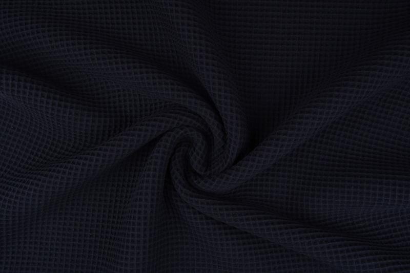 Wafelkatoen soepel Kleur zwart € 5,95 per meter.Art WF22