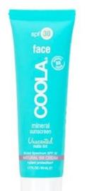 mineral face sunscreen unscented matte tint spf 30