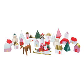 Meri meri - 3D advent village