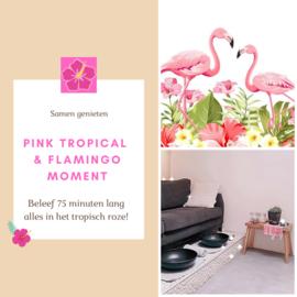 Pink tropical & flamingo moment 'kadobon'