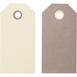 6 Labels bruin/beige 5-10 cm