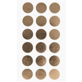 Ronde stickers goud 15 mm, 4 x 18 stuks