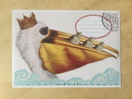 Enveloppe pelikaan mét of zonder bijzondere kaart en sluitzegel