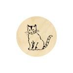 Kat met gestreepte staart 19 mm