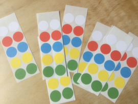 10 Ronde stickers varia 19 mm