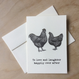 Wenskaart: To love and laughter...