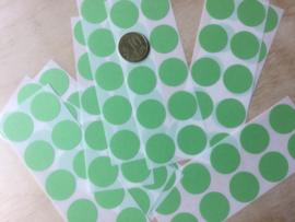 10 Ronde stickers appeltjes groen 19 mm